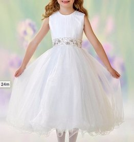JOAN CALABRESE SATIN,TULLE & SPARKLE TULLE DRESS