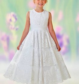 JOAN CALABRESE SATIN, TULLE, & LACE DRESS