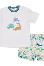 FLORENCE EISEMAN FLORENCE EISEMAN BOYS HAPPY TIERS DINO T-SHIRT W/PULL-ON SHORT