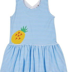 FLORENCE EISEMAN PINEAPPLE COOLER CROSSBACK DRESS
