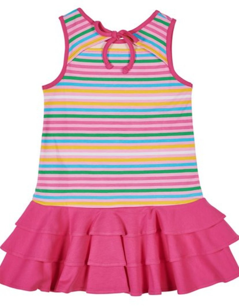 FLORENCE EISEMAN FLORENCE EISEMAN GIRLS ICE CREAM SOCIAL STRIPE DRESS