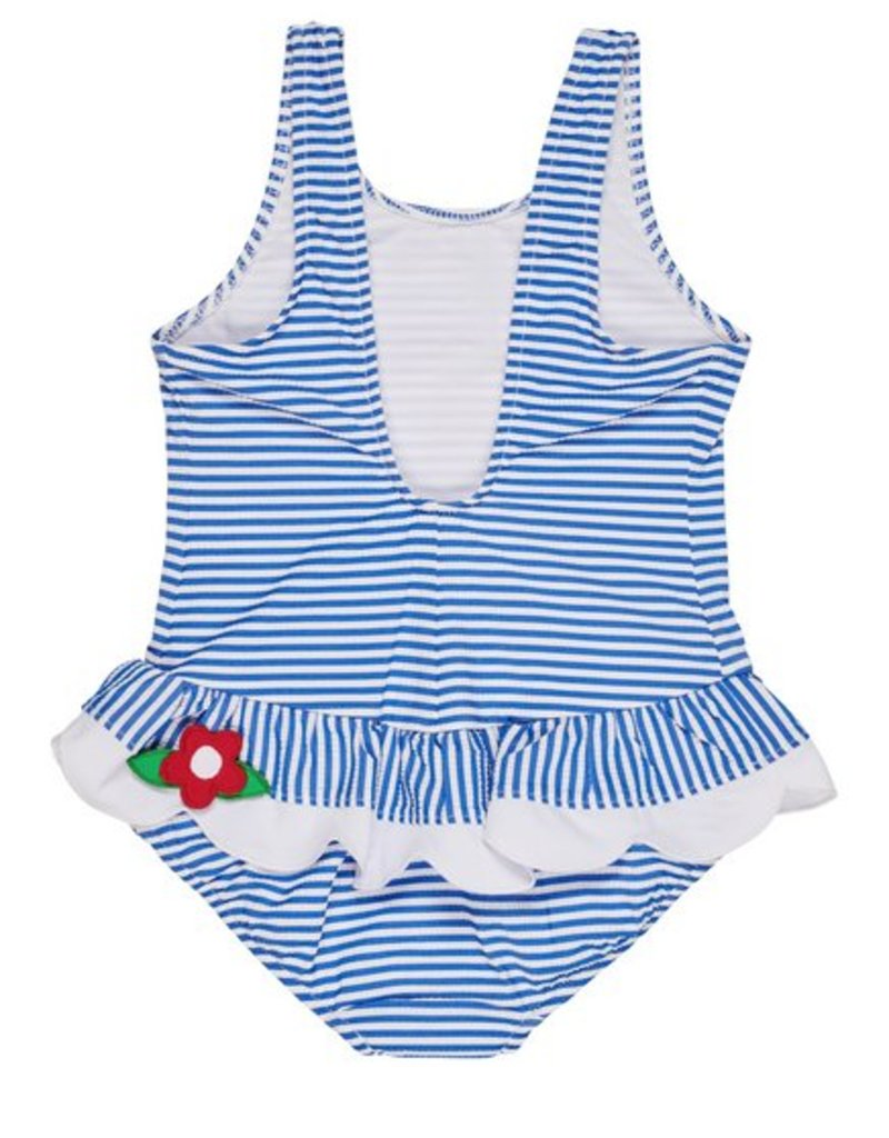 FLORENCE EISEMAN FLORENCE EISEMAN GIRLS SEERSUCKER SUITS 1PC SWIMSUIT
