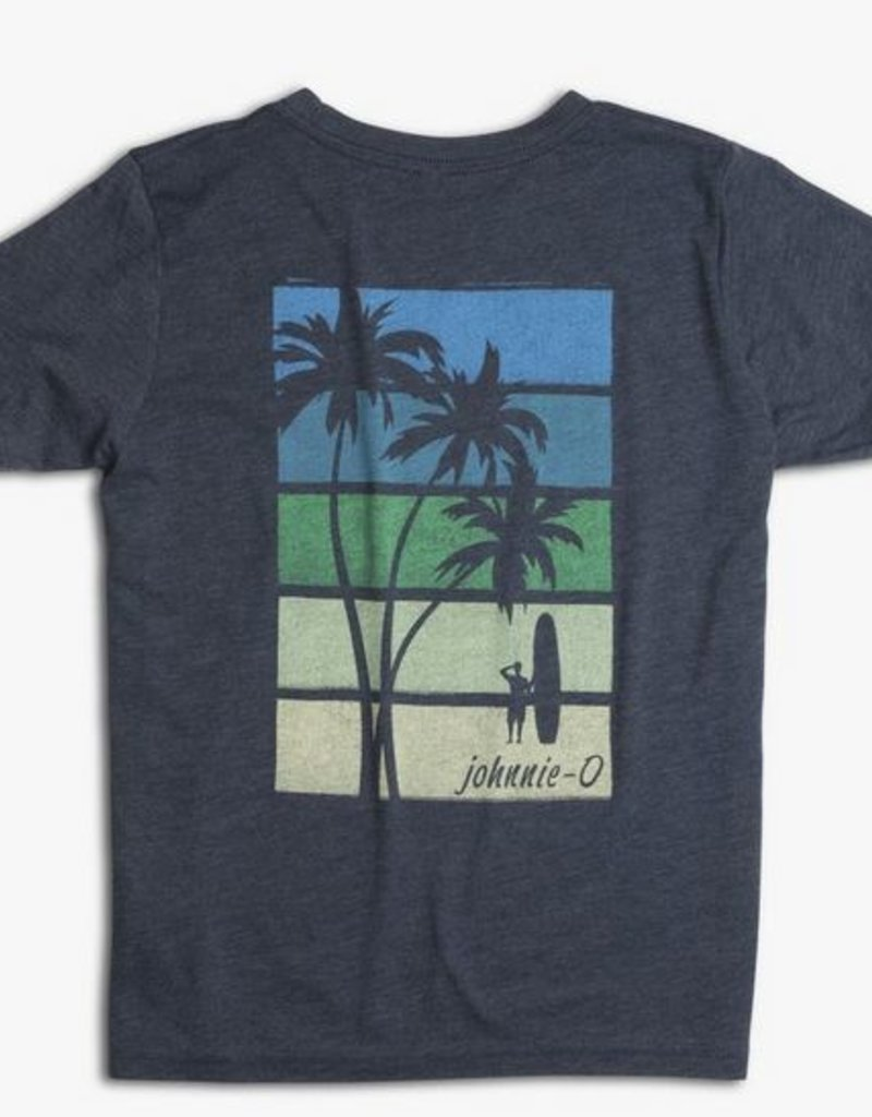 JOHNNIE O JOHNNIE O- BOYS PALMS SUNSET L/S GRAPHIC T-SHIRT