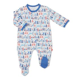 MAGNIFICENT BABY GLOBETROTTER MODAL FOOTIE