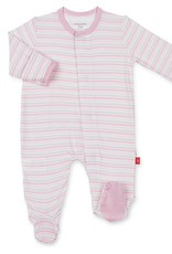MAGNIFICENT BABY MAGNIFICENT BABY GLOBETROTTER STRIPE MODAL FOOTIE