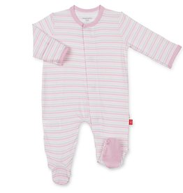 MAGNIFICENT BABY GLOBETROTTER STRIPE MODAL FOOTIE