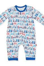 MAGNIFICENT BABY MAGNIFICENT BABY GLOBETROTTER MODAL COVERALL