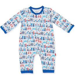 MAGNIFICENT BABY GLOBETROTTER MODAL COVERALL