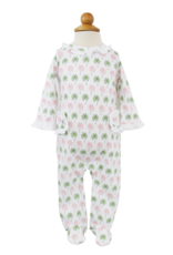 LILA & HAYES LILA + HAYES LUCY FOOTED ROMPER W/RUFFLES