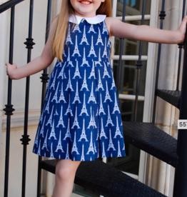SUSANNE LIVELY EIFFEL TOWER DRESS W/COLLAR (SIZE 6)