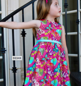 SUSANNE LIVELY BUTTERFLY PRINT DRESS (2-4T)