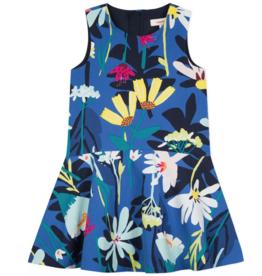 CATIMINI GRAPHIC FLORAL DRESS