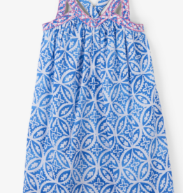 HATLEY BLUE MANDALA HANDKERCHIEF DRESS
