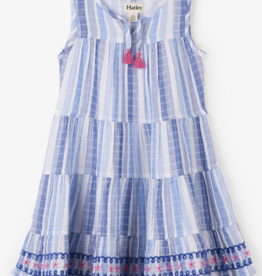 HATLEY STAR TRIM TIERED DRESS