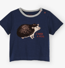 HATLEY HUGGABLE HEDGEHOG SHIRT W/ FRENCH TERRY SHORTS