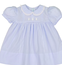 FELTMAN BROS EASTER BUNNY SMOCK DRESS W/PANTY (SIZES 3 & 6 MONTHS)