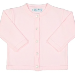 FELTMAN BROS LIGHT PINK CLASSIC KNIT CARDIGAN (SIZES 3, 6, & 9 MONTHS)
