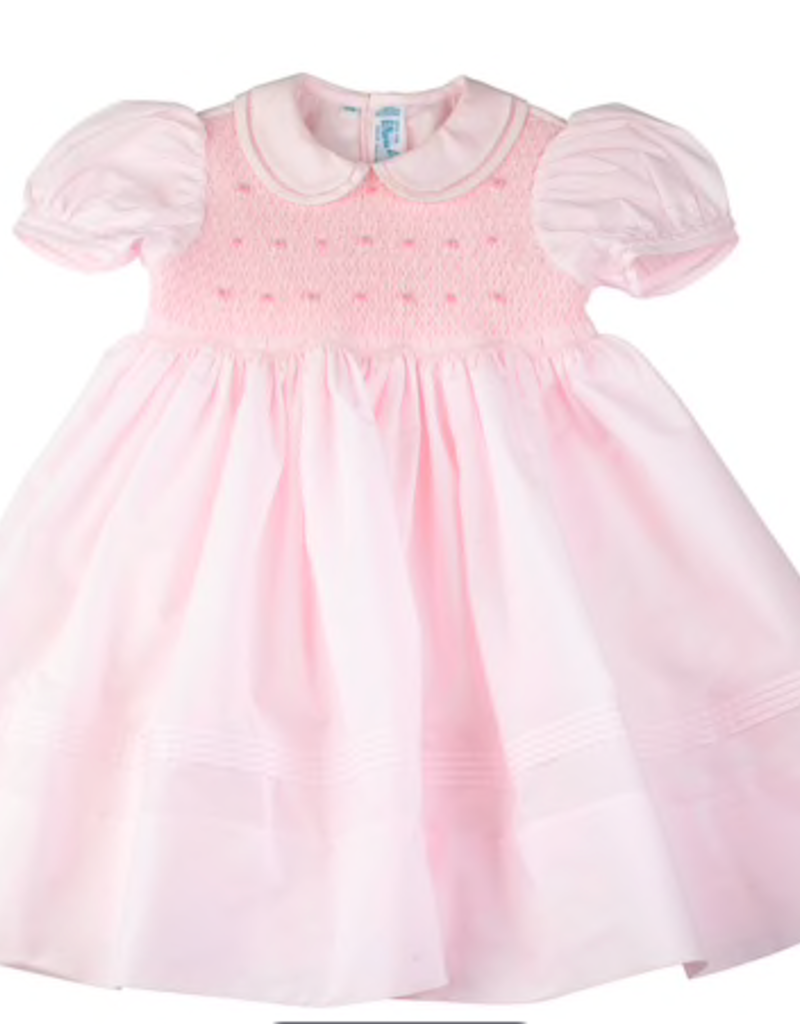 FELTMAN BROS FELTMAN BROTHERS SMOCKED ROSEBUD DRESS (12, 18 & 24 MONTHS)