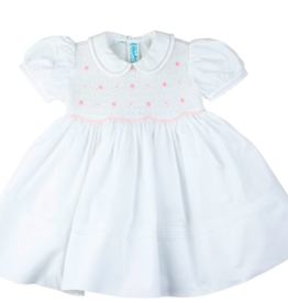 FELTMAN BROS SMOCKED ROSEBUD DRESS (12, 18 & 24 MONTHS)
