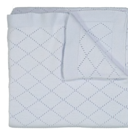 FELTMAN BROS DIAMOND POINTELLE KNIT BLANKET