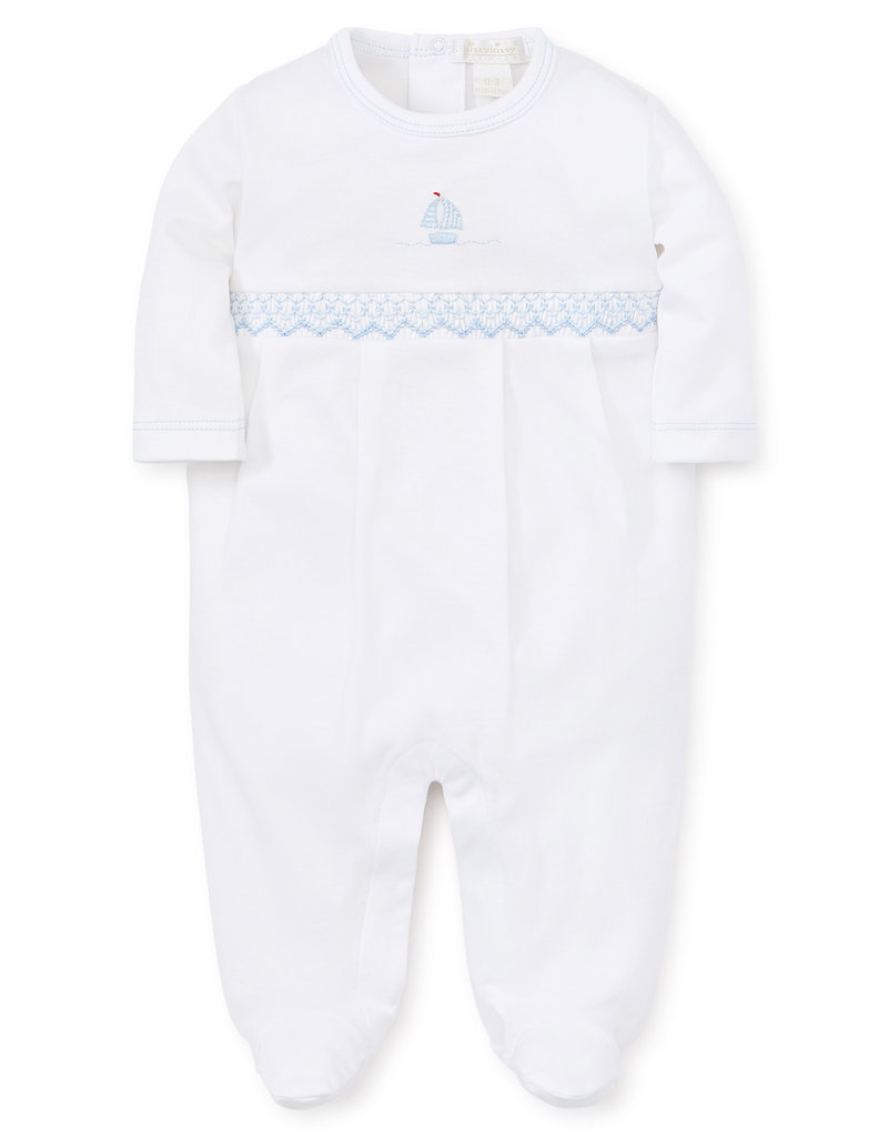 KISSY KISSY PREMIER SAIL AWAY HAND SMOCKED FOOTIE