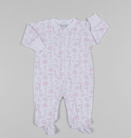 KISSY KISSY JUNGLE OUT THERE FOOTIE W/ZIPPER