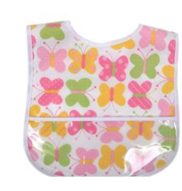 3 MARTHAS GIRLS LAMINATED FEEDING BIB