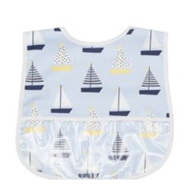3 MARTHAS LAMINATED FEEDING BIBS - BOYS