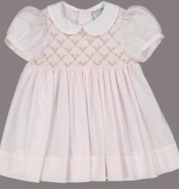 FELTMAN BROS FLORAL BULLION SMOCK DRESS W/PANTY