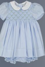 FELTMAN BROS FELTMAN BROTHERS FLORAL BULLIONS DIASY  SMOCK DRESS W/PANTY