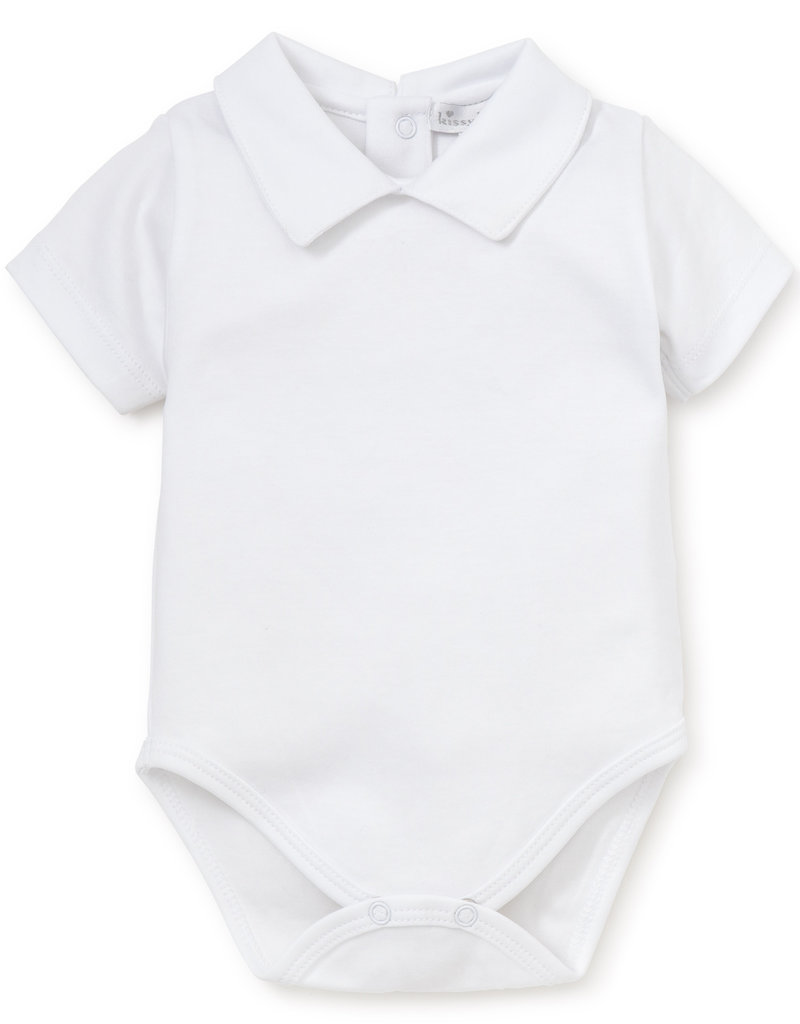 KISSY KISSY KISSY KISSY BOYS SHORT SLEEVE BASICS BODY SUIT W/COLLAR