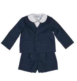 FLORENCE EISEMAN BOYS SUIT UP PIQUE ETON SUIT 3PC
