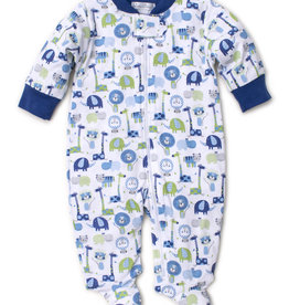 KISSY KISSY JAZZY JUNGLE ZIPPERED FOOTIE