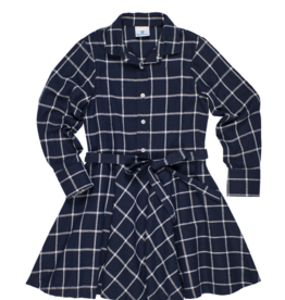 FLORENCE EISEMAN CENTER STAGE PLAID SHIRT DRESS