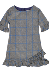 FLORENCE EISEMAN CENTER STAGE PLAID DRESS W/RUFFLES