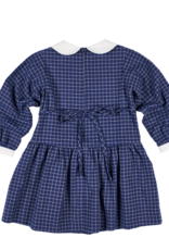 FLORENCE EISEMAN DOUBLE CHECK TATTERSALL DRESS W/FLOWER POCKET