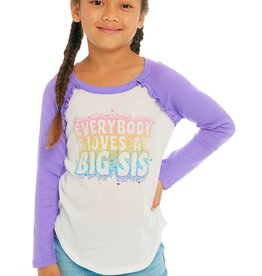 CHASER BIG SISTER/LITTLE SISTER COTTON GAUZY RUFFLE T-SHIRT