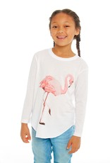 CHASER CHASER FLAMINGO VINTAGE JERSEY SHIRT
