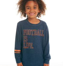 CHASER FOOTBALL IS LIFE COZY KNIT CREWNECK PULLOVER SWEATER