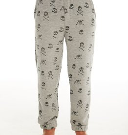 CHASER SKULL COZY KNIT LOUNGE JOGGER PANT