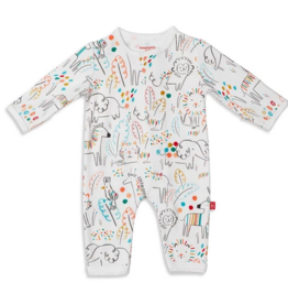 MAGNIFICENT BABY UNISEX POP JUNGLE MODAL COVERALL