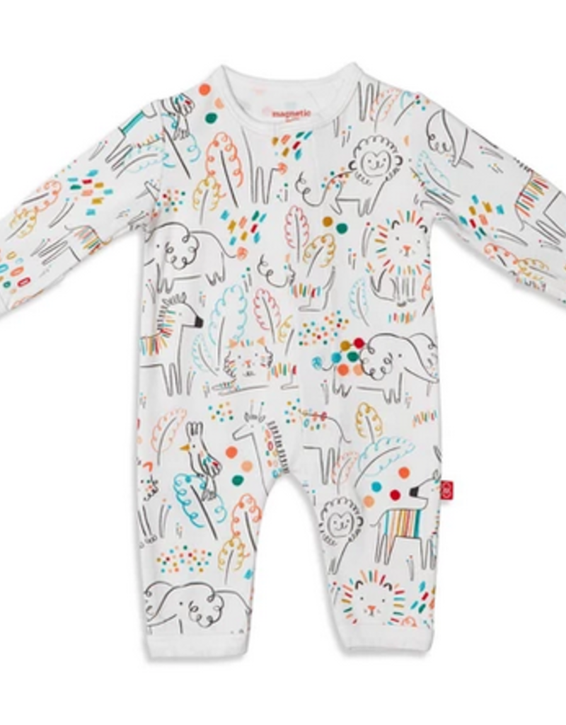 MAGNIFICENT BABY MAGNIFICENT BABY UNISEX POP JUNGLE MODAL COVERALL