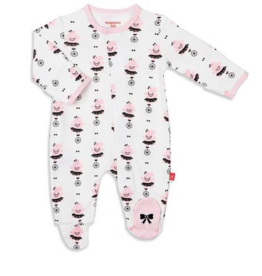 MAGNIFICENT BABY ORGANIC COT HIPPO SHAKE FOOTIE