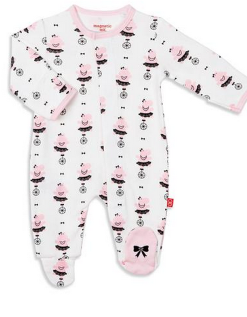MAGNIFICENT BABY MAGNIFICENT BABY ORGANIC COT HIPPO SHAKE FOOTIE