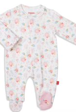MAGNIFICENT BABY MAGNIFCENT BABY  NOTTINGHAM FLORAL ORGANIC COTTON FOOTIE