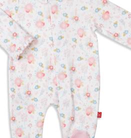 MAGNIFICENT BABY NOTTINGHAM FLORAL ORGANIC COTTON FOOTIE