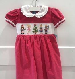 ANAVINI NUTCRACKER CORD SHORT SLEEVE DRESS