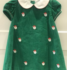 ANAVINI SANTA FACES CORD SHORT SLEEVE DRESS