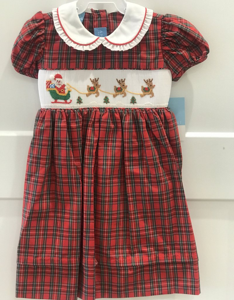 ANAVINI ANAVINI SANTA'S SLEIGH SHORT SLEEVE DRESS