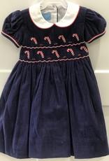 ANAVINI ANAVINI CANDY CANE CORD SHORT SLEEVE DRESS